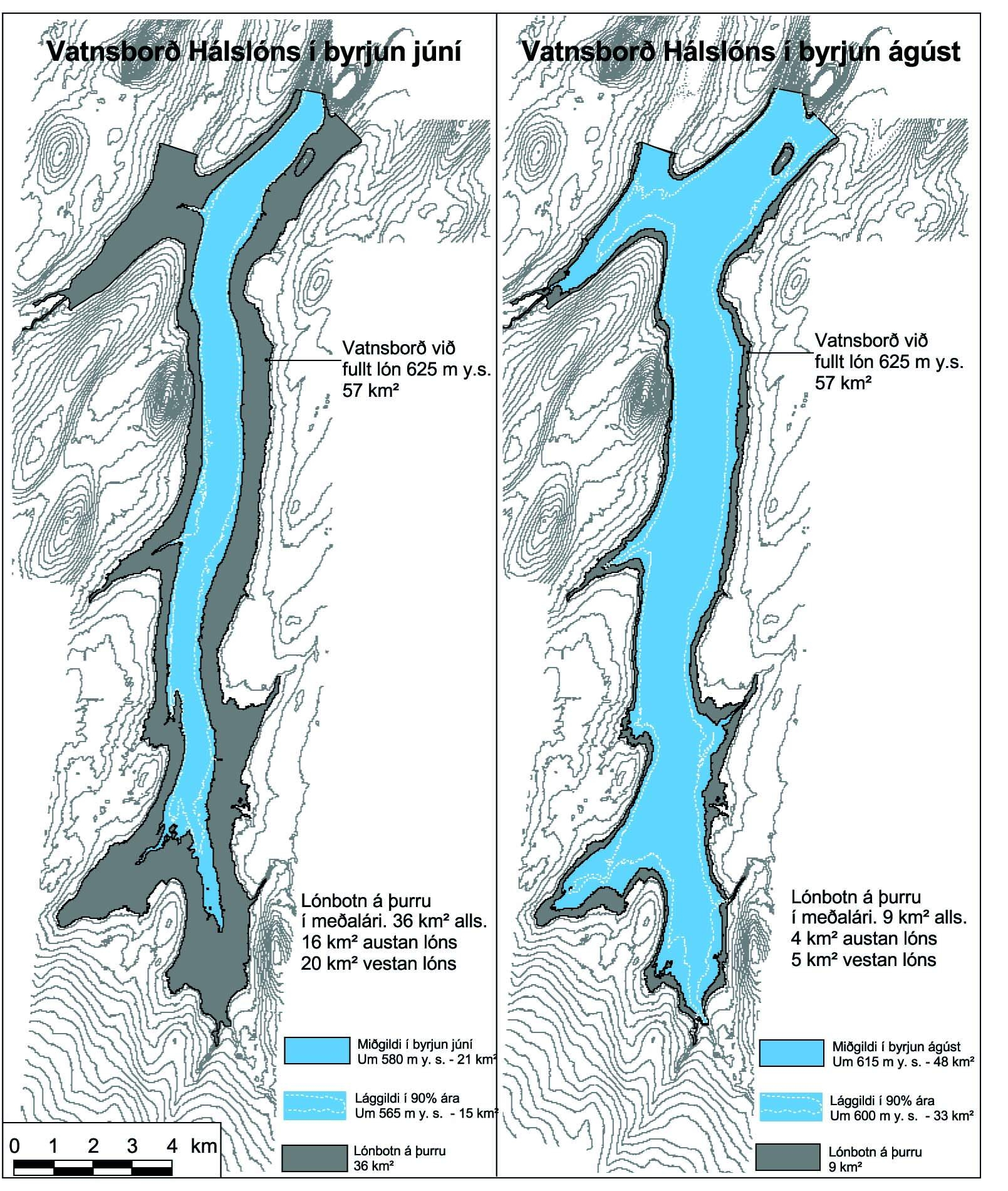 Figure 2.  The status of the reservoir in the average year at the beginning of June